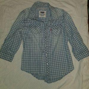 Levi's Plaid Girls Shirt